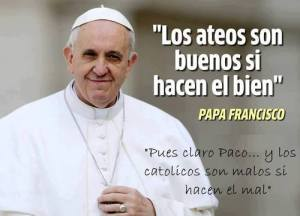 papa francisco ateismo religion roma vaticano noticia